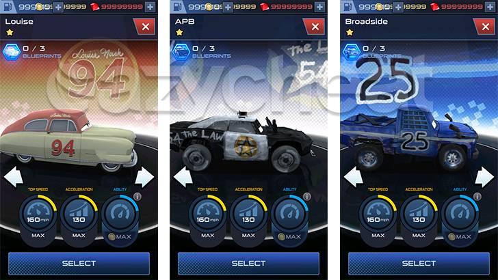 Cars: Lightning League Cheat