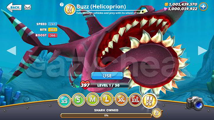 Hungry Shark World Cheat