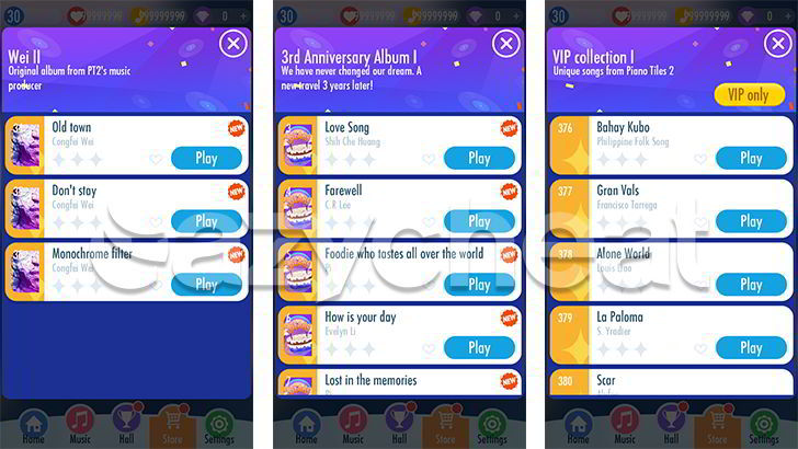 Piano Tiles 2™ All VIP Songs Unlocked, Unlimited Lives