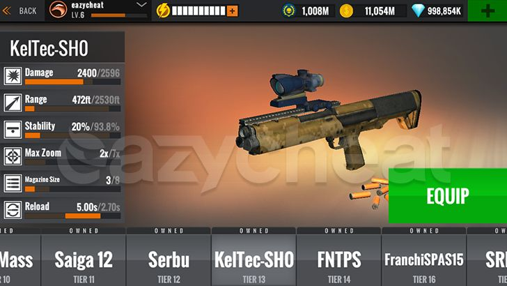 Sniper 3D Gun Shooter Cheat
