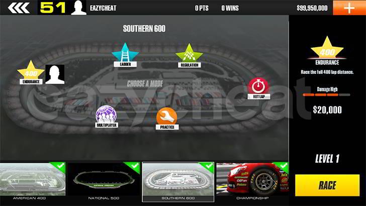 Stock Car Racing Cheat