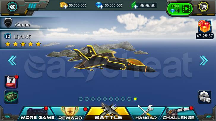 Sky Fighters 3D Cheat