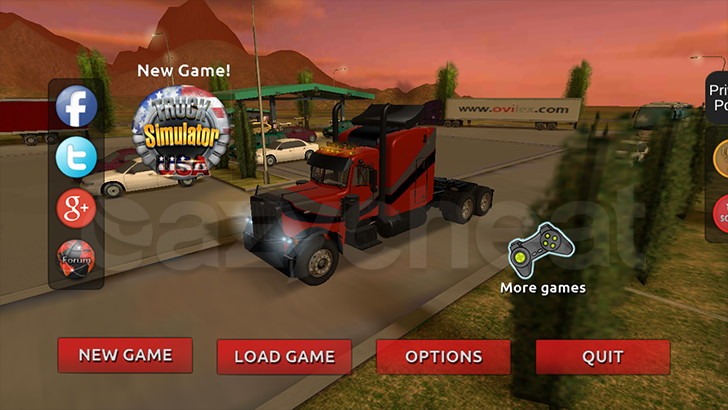 Truck Simulator 3D Cheat